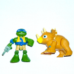 Half Shell Heroes Teenage mutant ninja turtles Leo and Triceratops